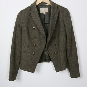 Banana Republic Jackets & Coats - Banana Republic Brown Wool Tweed Jacket Size 0